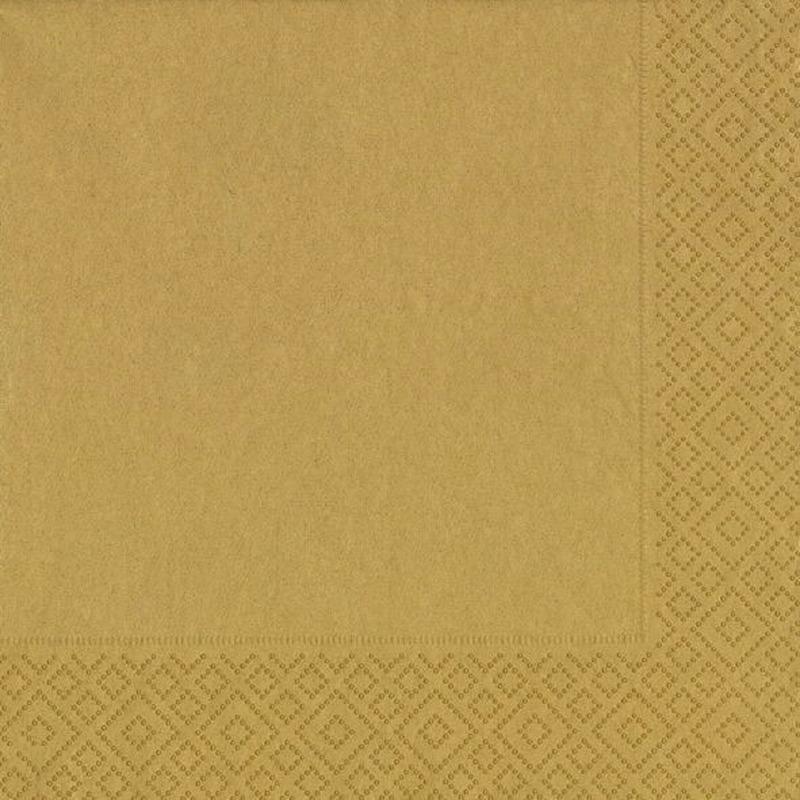 20x Gouden servetten 33 x 33 cm