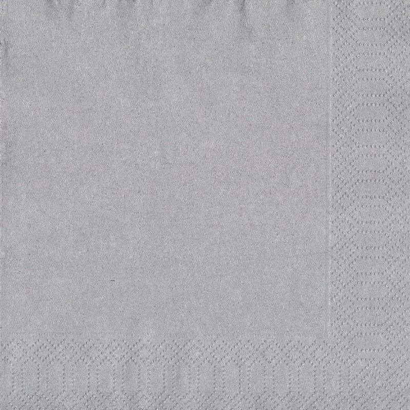 20x Zilveren servetten 33 x 33 cm