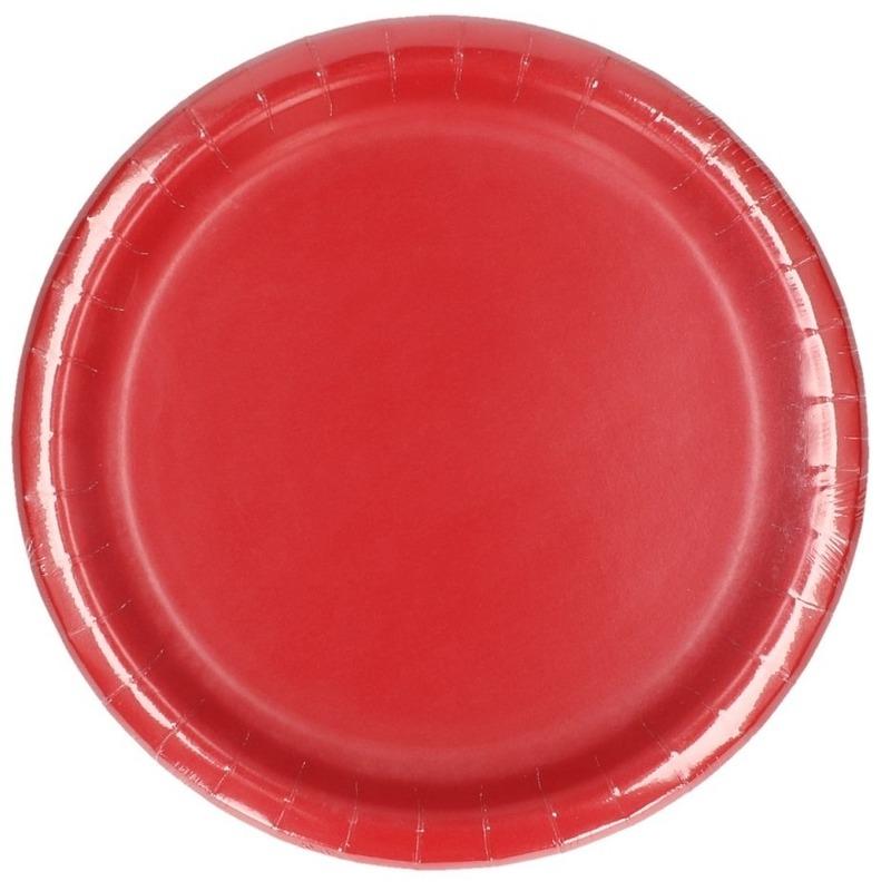 8x Rode borden 23 cm