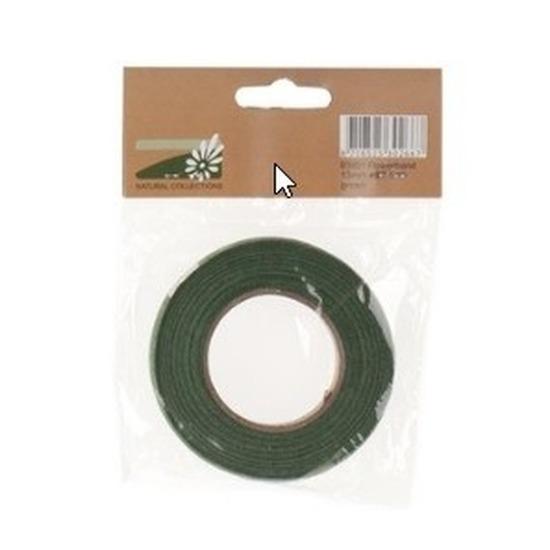Bloemband/bloementape groen 1,3 cm breed
