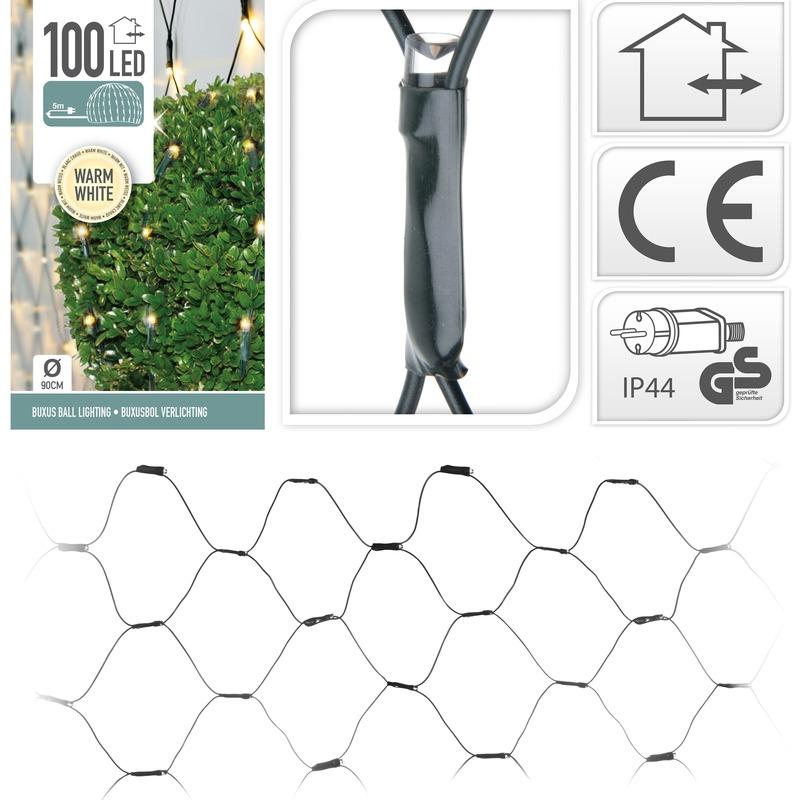 Buxus Kerstverlichting warm wit binnen/buiten 90 x 90 cm
