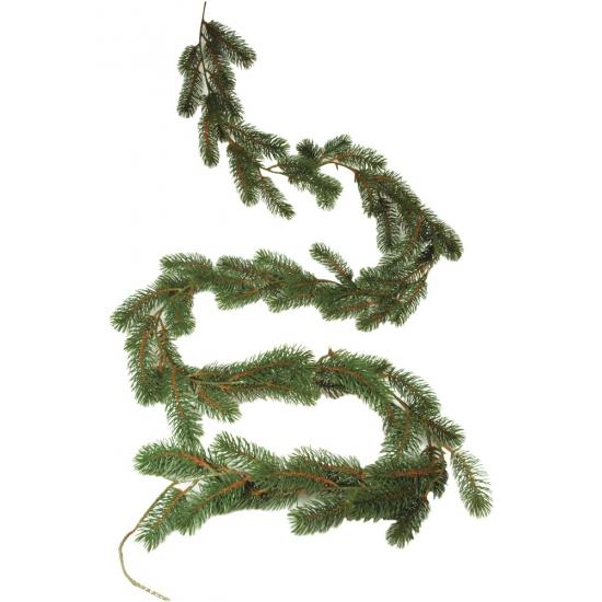 Dennenslinger guirlande groen 180 cm Kerstslingers
