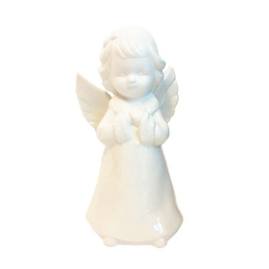 Engel van porselein wit 18 cm