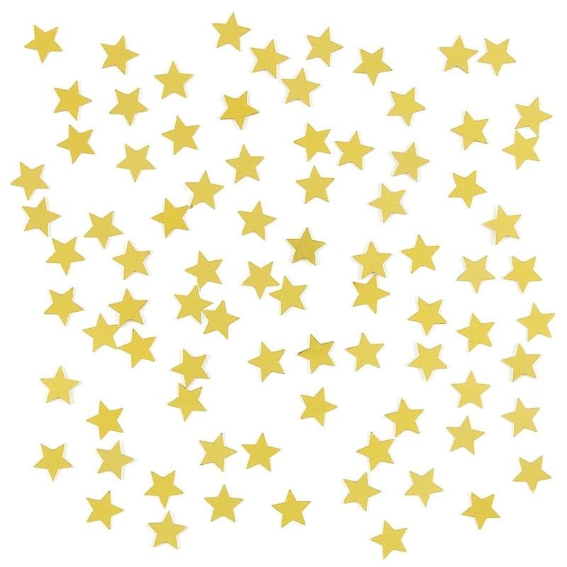 Gouden sterren confetti zakje 15 gram