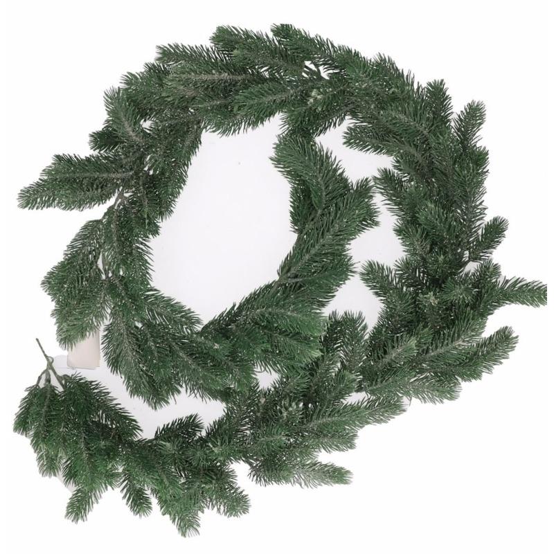 Groene dennentakken dennenslinger Kerstslinger 180 cm