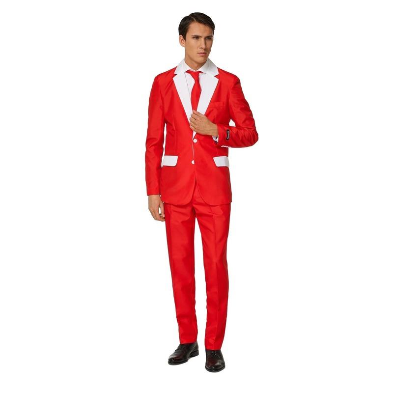Heren pak met Kerstman kostuum print