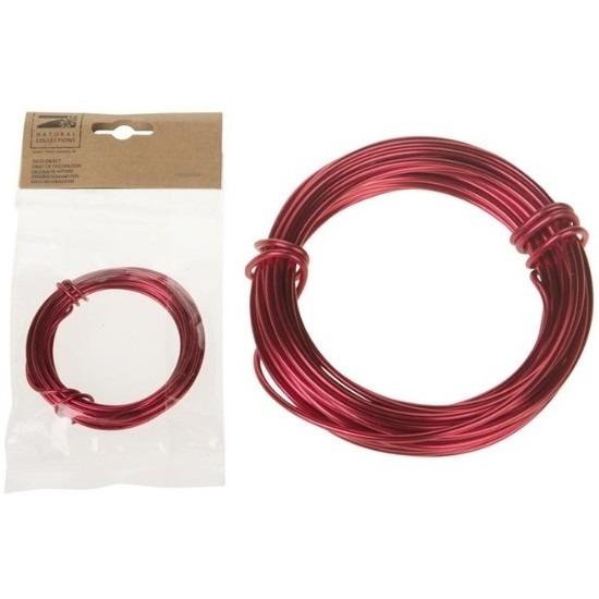 Hobby aluminium draad rood 500 cm