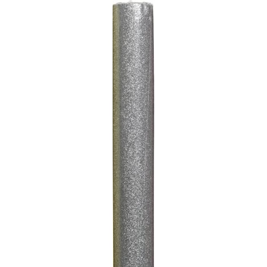Kerst inpakpapier zilver/glitters 70 x 150 cm