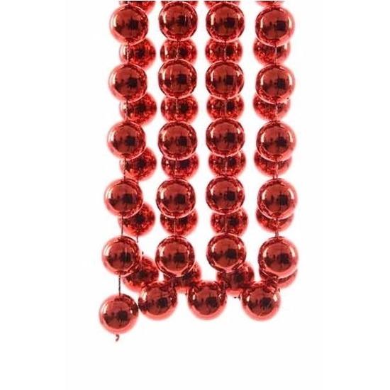 Kerst rode XXL kralenslinger kerstslinger 270 cm