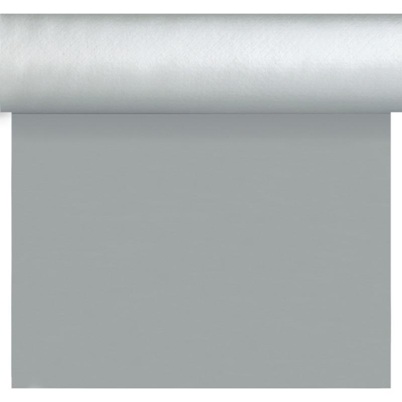 Kerst thema tafelloper/placemats zilver unikleur 40 x 480 cm