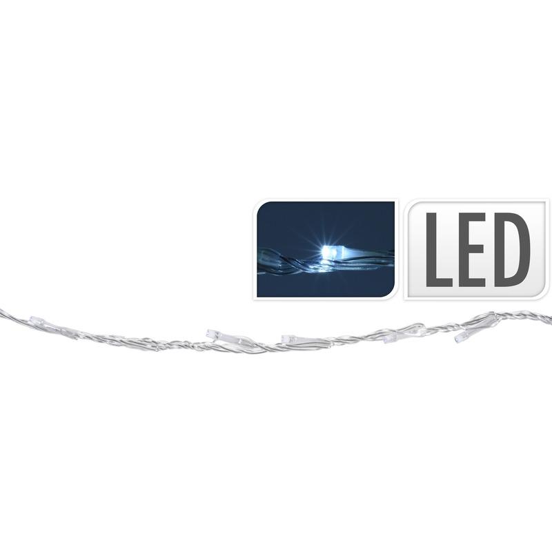 Kerstverlichting koel wit LED lichtgordijn 100 x 20 cm buiten