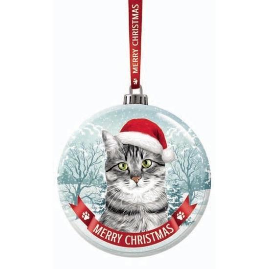 Kerstversiering glazen kerstbal Britse korthaar kat/poes 7 cm