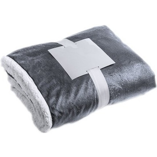 Luxe pluche deken/kleed grijs 125 x 160 cm