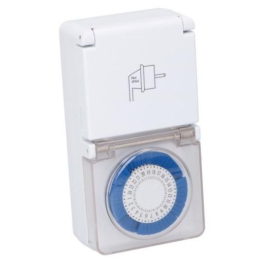 Mechanische timer/tijdklok/tijdschakelaar met afdekklepje