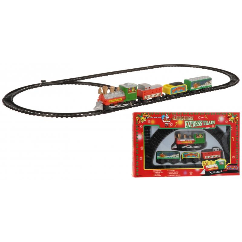 Rijdende Kersttrein 9-delig op batterijen