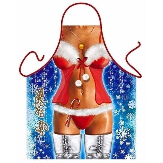 Sexy kookschort Kerstvrouw