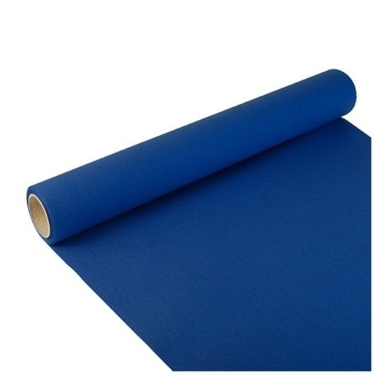 Tafelloper donkerblauw 300 x 40 cm papier