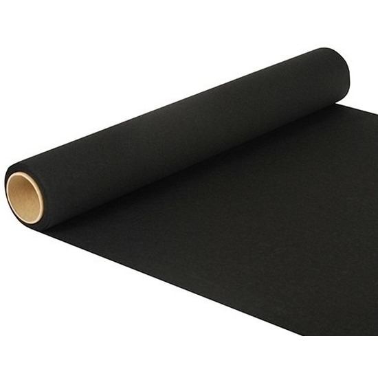 Zwarte tafelloper 480 x 40 cm